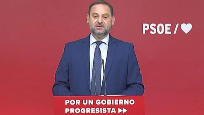 El ministro de Fomento en funciones José Luis Ábalos.