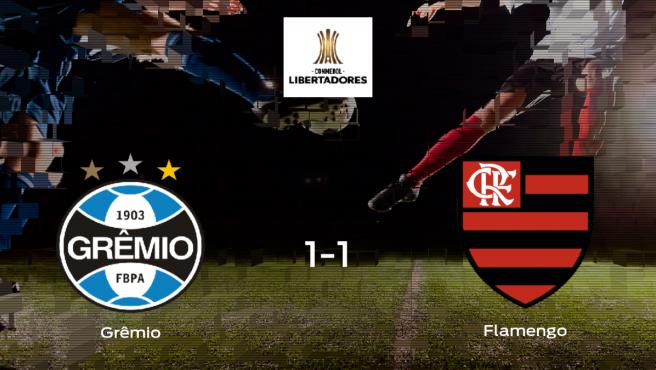 El Grêmio y el Flamengo empatan en la primera eliminatoria de semifinales (1-1)
