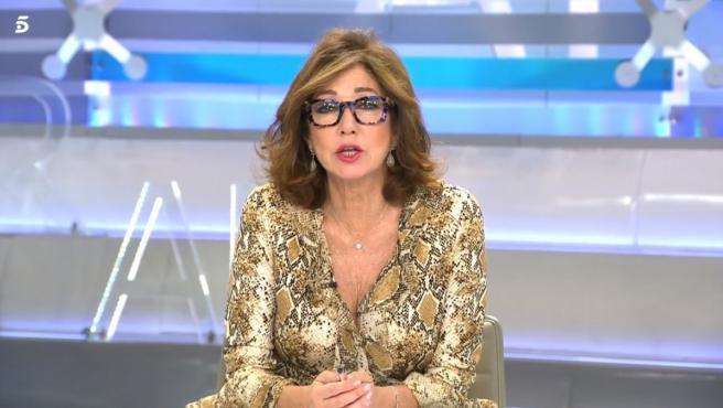 Ana Rosa Quintana durante su espacio matinal en Telecinco.