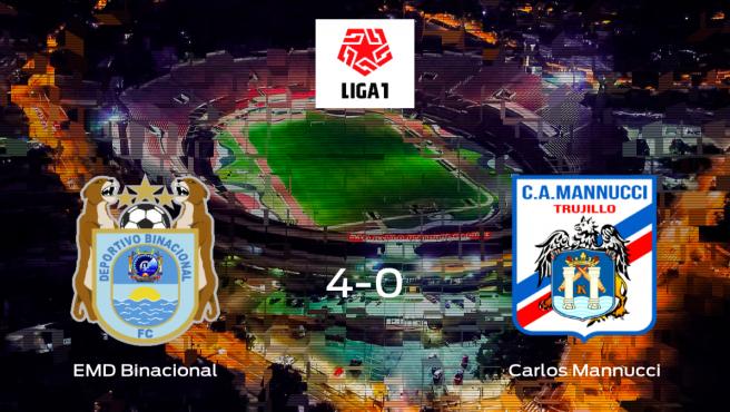 El Escuela Municipal Deportivo Binacional se pasea ante el Carlos Mannucci sin apenas obstáculos (4-0)