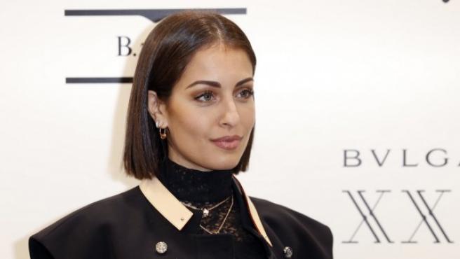 Hiba Abouk en una de sus últimas apariciones públicas.