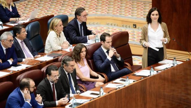 Isabel Díaz Ayuso, en la Asamblea.