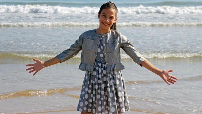 Melani García, la pequeña artista que representará a España en Eurovisión Junior.