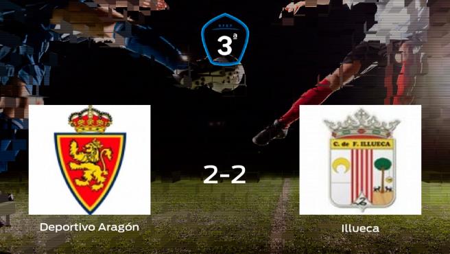 El Deportivo Aragón y el Illueca empatan a dos en el Ciudad Deportiva del Real Zaragoza