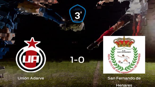 El Unión Adarve suma tres puntos a su casillero tras ganar al San Fernando de Henares (1-0)