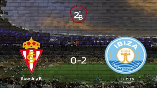 El Ibiza suma tres puntos a su casillero ante el Sporting B (0-2)