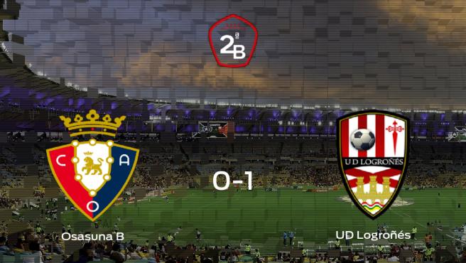 El Logroñés se impone al Osasuna B y consigue los tres puntos (0-1)