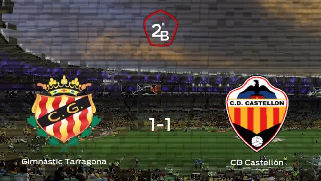 El Gimnàstic Tarragona y el Castellón empatan y se llevan un punto (1-1)
