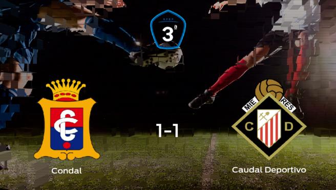 El Caudal Deportivo consigue un empate a uno frente al Condal