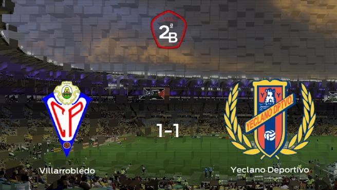 El Villarrobledo y el Yeclano Deportivo empatan y suman un punto a su casillero (1-1)