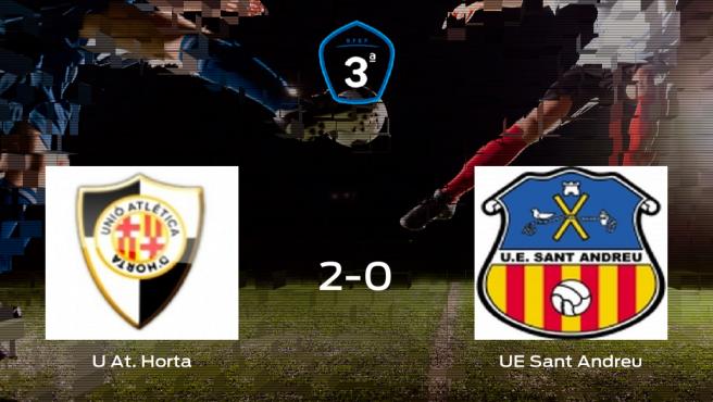 Los tres puntos se quedan en casa tras la victoria del At. Horta ante el Sant Andreu (2-0)