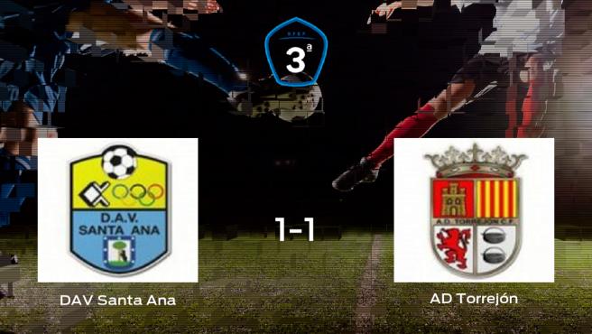 El Santa Ana y la AD Torrejón CF se reparten los puntos tras empatar a uno