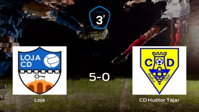 El Loja se queda con los tres puntos frente al Huétor Tájar (5-0)