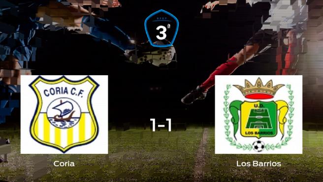 Reparto de puntos entre el Coria y el Los Barrios (1-1)