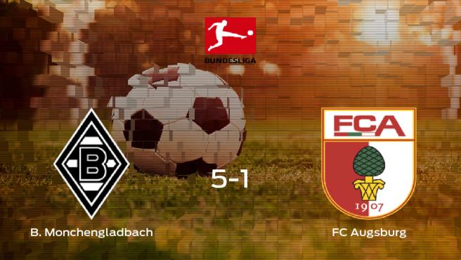 El Borussia Monchengladbach golea 5-1 en el Borussia-Park al FC Augsburg