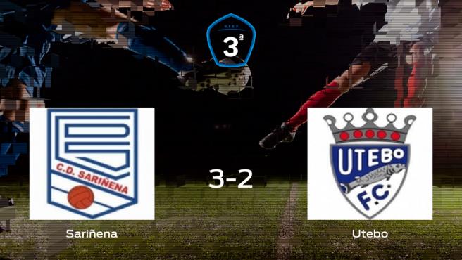 El Sariñena vence en casa al Utebo por 3-2