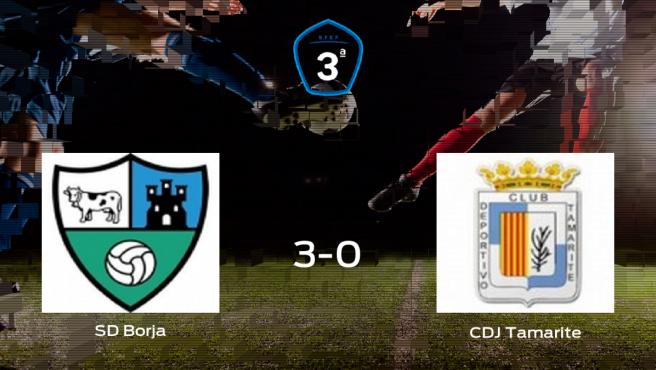 Tres puntos para el casillero del Borja tras pasar por encima al Tamarite (3-0)