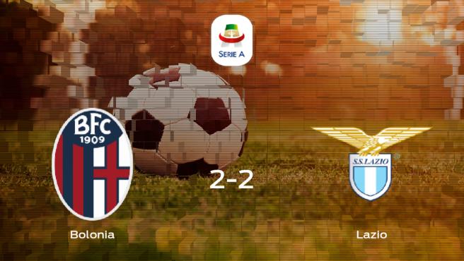 El Bolonia y el Lazio se reparten los puntos en el Renato Dall'Ara (2-2)