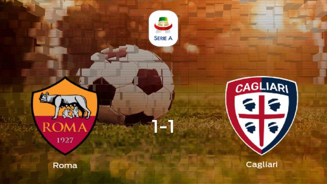 La Roma y el Cagliari se reparten los puntos en el Olimpico di Roma (1-1)