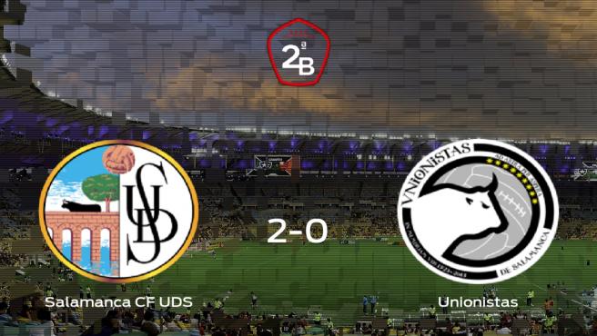 Tres puntos para el equipo local: Salamanca UDS 2-0 Unionistas