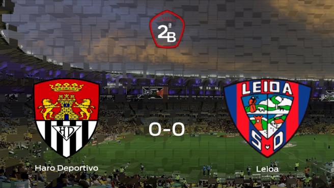 El Haro Deportivo y el Leioa empatan y suman un punto a su casillero (0-0)