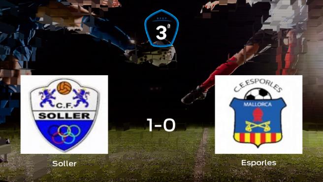 El Soller derrota 1-0 al Esporles en el Soller