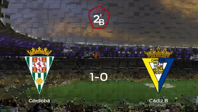El Córdoba gana 1-0 en su estadio frente al Cádiz B