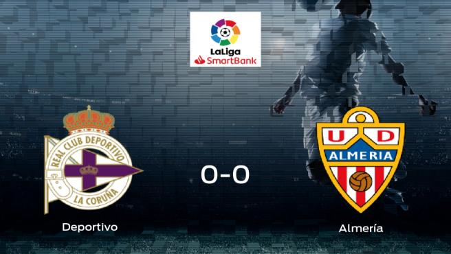 Un punto para cada uno en el Deportivo-Almería (0-0)
