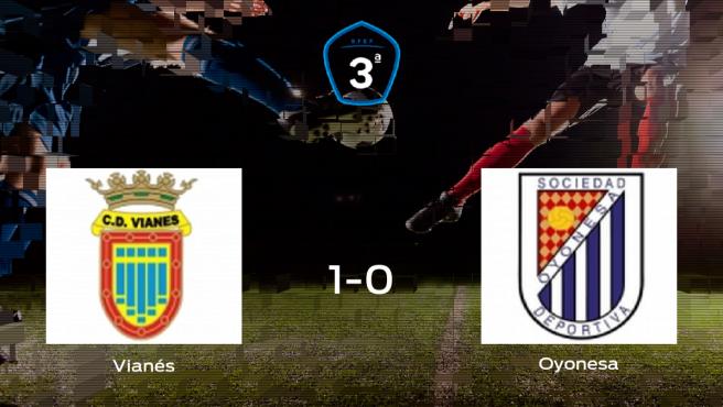 El Vianés vence 1-0 en su estadio frente al Oyonesa