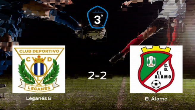 El Leganés B y El Álamo suman un punto tras empatar a dos