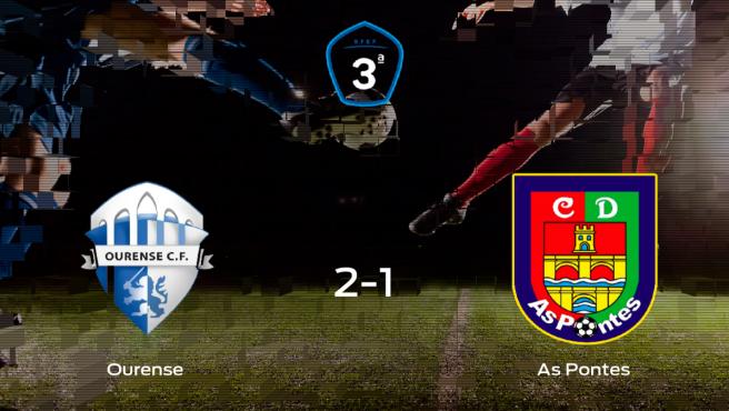 El Ourense suma tres puntos a su casillero tras ganar al As Pontes (2-1)