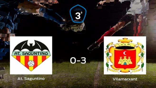 El Vilamarxant se lleva los tres puntos a casa tras golear al At. Saguntino (0-3)