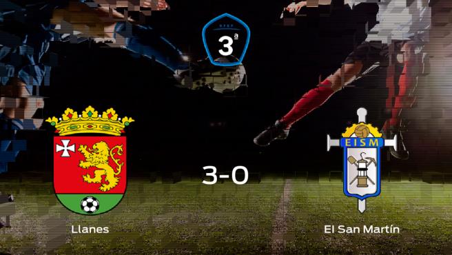 El Llanes se pasea frente al San Martín sin apenas obstáculos (3-0)