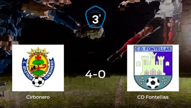 El Cirbonero se hace con los tres puntos tras golear al CD Fontellas en casa (4-0)