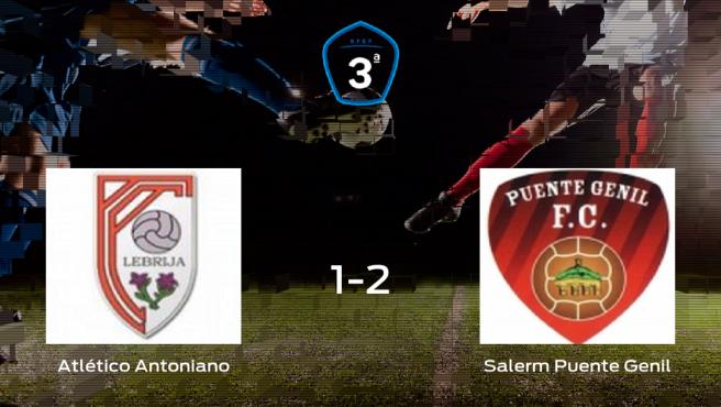 El Salerm Puente Genil se queda con los tres puntos después de derrotar 1-2 al Atlético Antoniano
