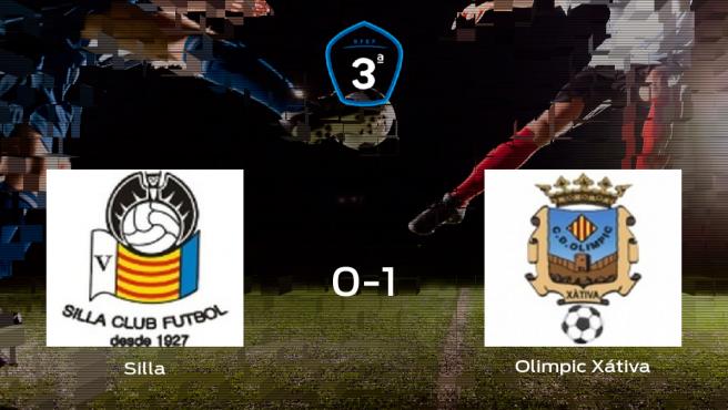El Olimpic Xátiva se lleva el triunfo tras vencer 0-1 al Silla Cf