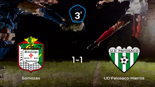 El Somozas y el Paiosaco-Hierros se reparten los puntos tras su empate a uno