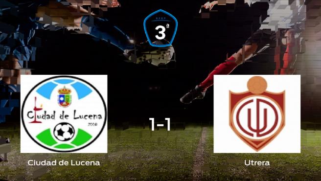 El Ciudad de Lucena y el Utrera se reparten los puntos tras empatar a uno