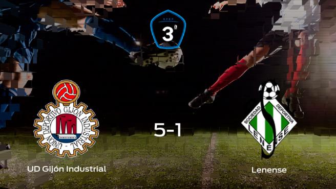 Triunfo para el Gijón Industrial tras golear 5-1 al Lenense
