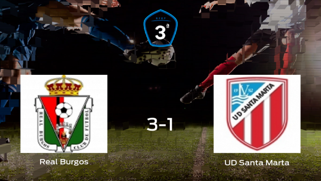 El Real Burgos CF gana 3-1 al Santa Marta y se lleva los tres puntos