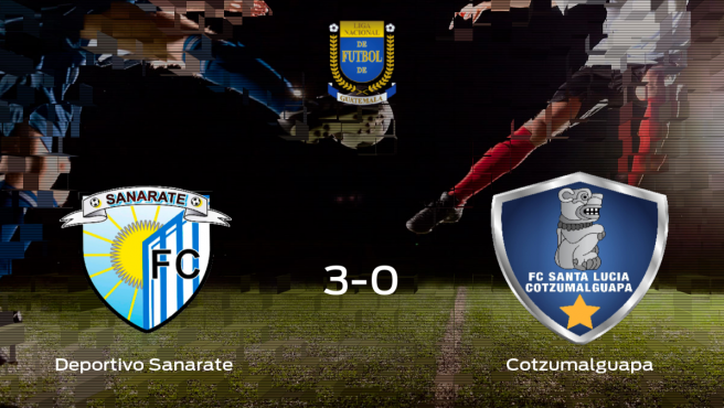 El Deportivo Sanarate se queda con los tres puntos ante el Cotzumalguapa (3-0)
