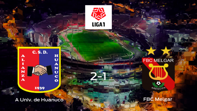 El Alianza Universidad de Huanuco gana 2-1 frente al FBC Melgar