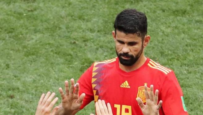Diego Costa, durante un partido de España en el Mundial de Rusia 2018.