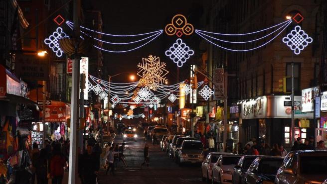 Imagen de una de las calles del barrio de Chinatown, en Nueva York.