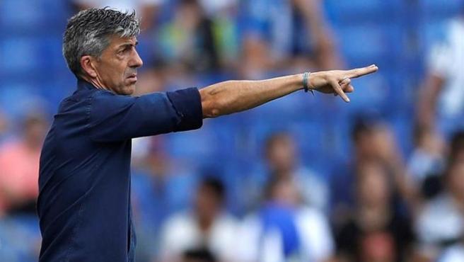 El entrenador de la Real Sociedad, Imanol Alguacil.