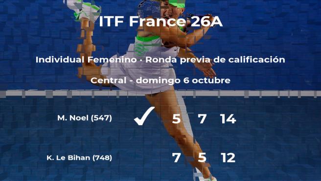 Mallaurie Noel vence a Kelia Le Bihan en la ronda previa de calificación