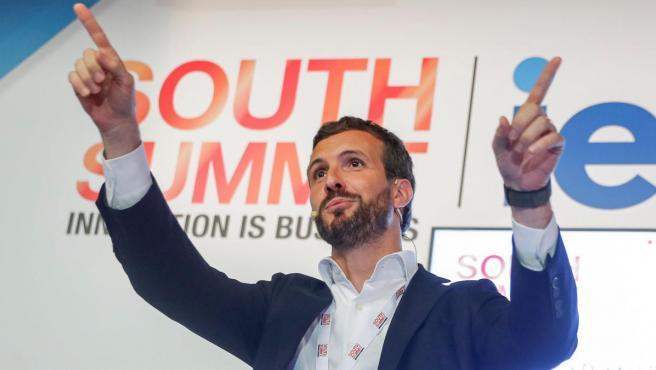 El líder del PP, Pablo Casado, en un acto en Madrid esta semana.
