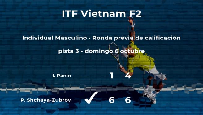 Pavel Shchaya-Zubrov vence en la ronda previa de calificación del torneo de Tay Ninh