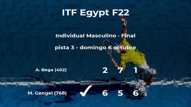 Triunfo de Marek Gengel en la final del torneo de Sharm El Sheikh
