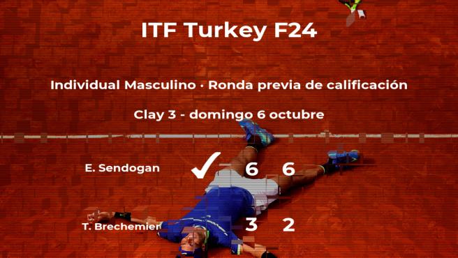 Emir Sendogan consigue vencer en la ronda previa de calificación contra Thomas Brechemier